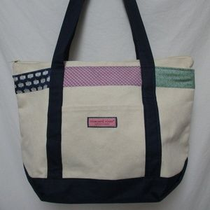 Vineyard Vines Martha's Vineyard large Canvas Tote